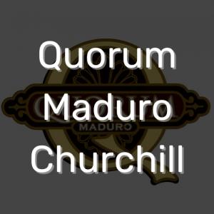 סיגר קוורום מדורו צ'רצ'יל | Quorum Maduro Churchill